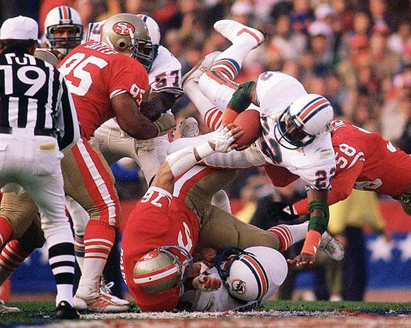 Tony Nathan (Super Bowl XIX, Jan. 20, 1985) :: Walter Iooss Jr./SI