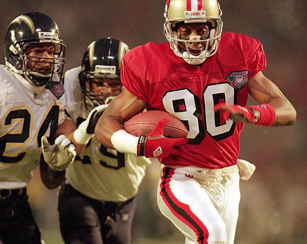 Jerry Rice (Super Bowl XXIX, Jan. 29, 1995) :: Bill Frakes/SI
