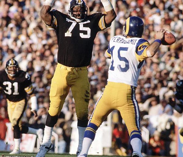 Joe Greene (Super Bowl XIV, Jan. 20, 1980) :: Walter Iooss Jr./SI