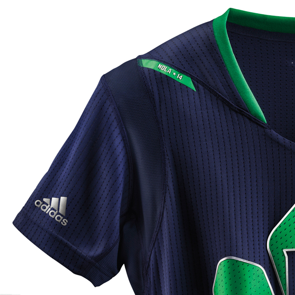 A look at the sleeve of the 2014 NBA All-Star jersey for the East. (Adidas)