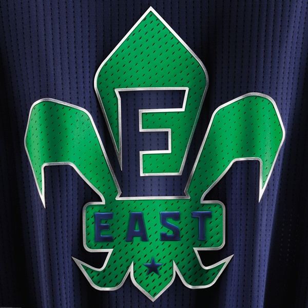 A look at the logo of the 2014 NBA All-Star jersey for the West. (Adidas)