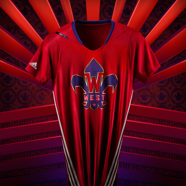 The 2014 NBA All-Star jersey for the West. (Adidas)