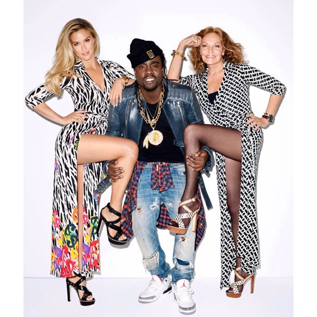 @onemanagement: @BarRefaeli, @Wale + @DVF for @HarpersBazaarUS. #Bar #DVF #onemanagement #model #newyork #nyc #fashion #HarpersBazaar #editorial #theONES