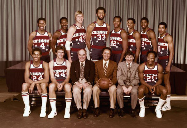 The 1980 Western Conference All-Stars. (Getty Images)