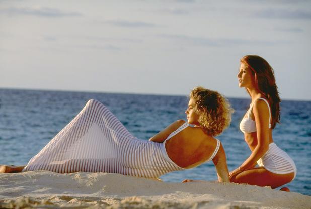 With Rebecca Romijn in Bermuda, 1995  ::  Walter Iooss Jr.