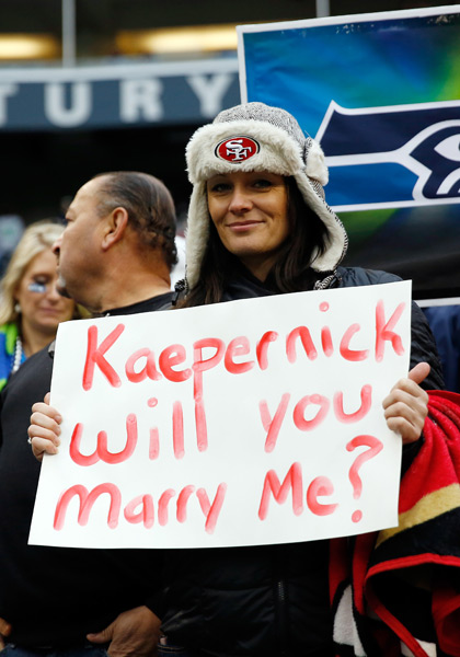 San Francisco 49ers v Seattle Seahawks :: Otto Gruele Jr. /Getty Images
