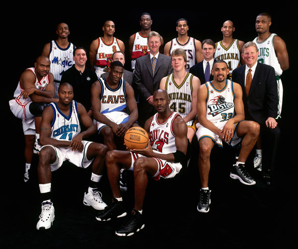 NBA Eastern Conference All-Stars (1998) :: Getty Images