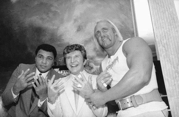 Muhammad Ali, Liberace  and Hulk Hogan :: AP