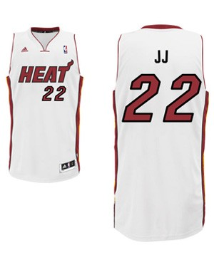 "Heat forward James Jones' ""JJ"" nickname jersey. (Heat.com)"