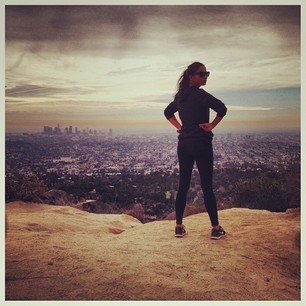@iamjessicagomes Did a great hike today! Wearing @workoutlife & @nike  #gomesfit