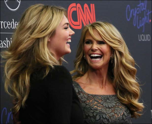 With Christie Brinkley  ::  Getty Images for Mercedes-Benz Fashion Week