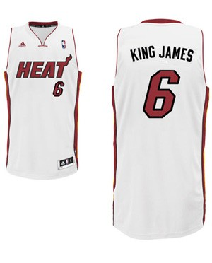 "Heat forward LeBron James' ""King James"" nickname jersey. (Heat.com)"