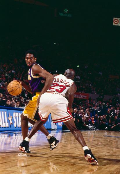 Michael Jordan and Kobe Bryant :: Manny Millan/SI