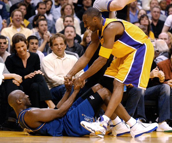 Michael Jordan and Kobe Bryant :: Getty Images