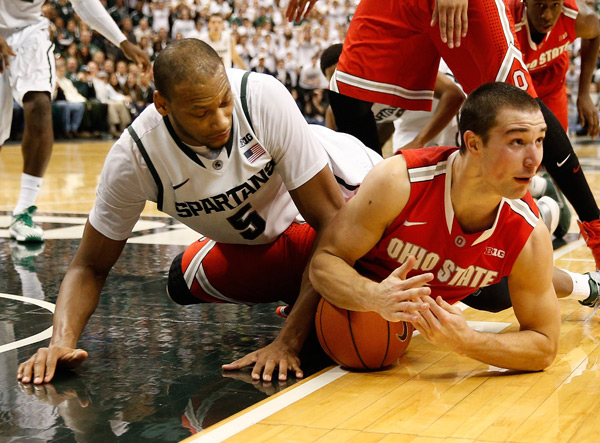 Aaron Craft and Adreian Payne :: Getty Images