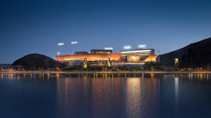 Rendering of the updated Sun Devil Stadium