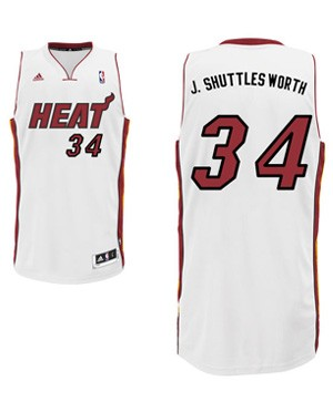 "Heat guard Ray Allen's ""J. Shuttlesworth"" nickname jersey. (Heat.com)"