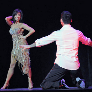 @CherylBurke: Let's dance! @TonyDovolani #BallroomWithATwist