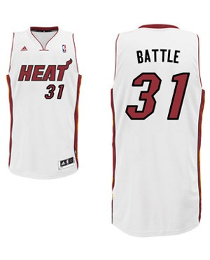 "Heat forward Shane Battier's ""Battle"" nickname jersey. (Heat.com)"