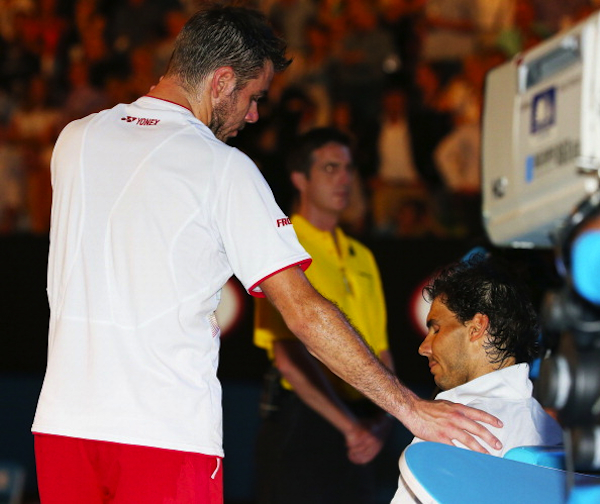 Wawrinka offers support for Nadal. (Getty Images)