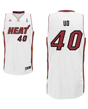 "Heat forward Udonis Haslem's ""UD"" nickname jersey. (Heat.com)"