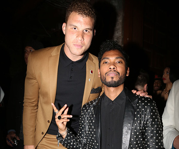 Blake Griffin, Miguel (Jonathan Nunez/Getty Images)