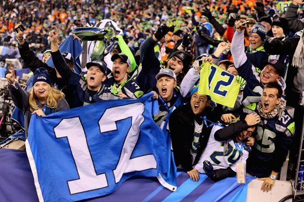 Seahawks fans :: Christian Petersen/Getty Images