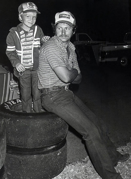 Dale Earnhardt and Dale Earnhardt Jr. :: Racing Photo Archives/Getty Images