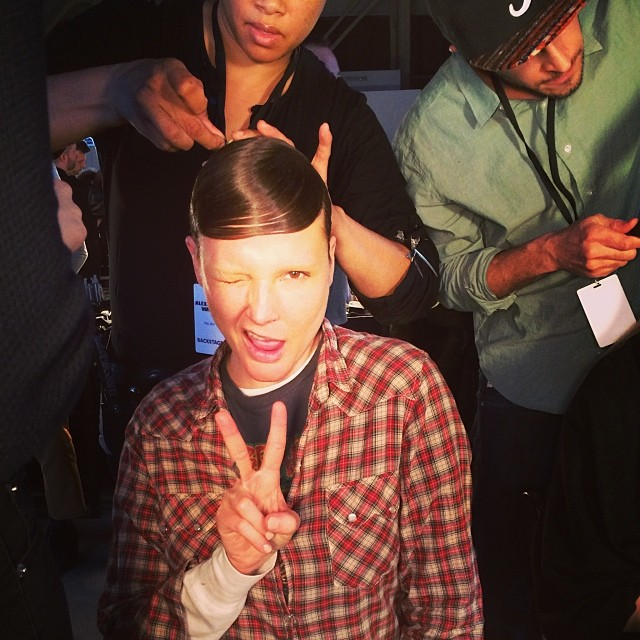 @1bridgethall: @cheriejohnson56 #stronghands ;) #backstage #alexanderwang#bridgethall