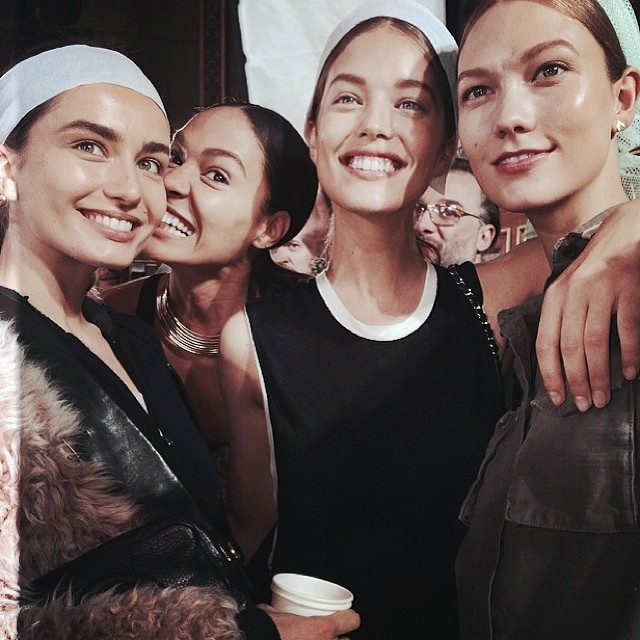 @emilydidonato1: It was such an honor walking the @balmainparis show with these beautiful girls.@andreeadiddy @karliekloss @joansmalls Congratulations @olivier_rousteingon an incredible show.
