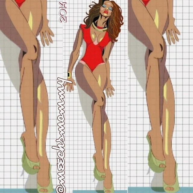 @tyrabanks:She got the thickness of my booty just right!!! (Thx @meechsmommy)