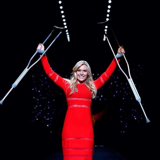 @lindseyvonn: Walked the runway last night for #goredforwomen to raise awareness for heart disease in women. Thank you @subway for supporting this cause!#empowering #gored