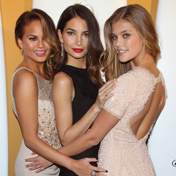 Chrissy Teigen, Lily Aldridge and Nina Agdal :: Getty Images