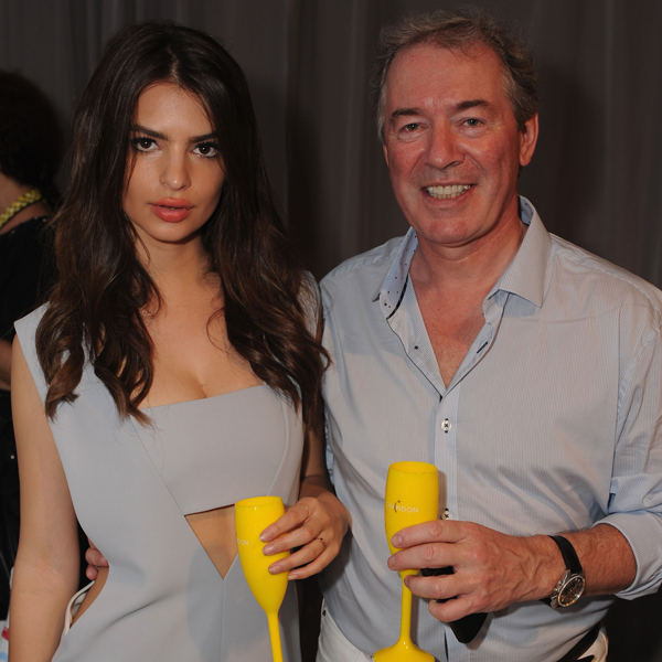 Emily Ratajkowski and Moet Hennessy USA CEO Jim Clerkin :: Getty Images