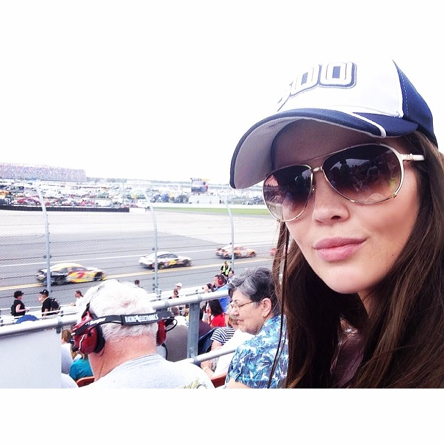 @tashy_tashb: Up there with one of the coolest things I've ever done!!! @nascar #Daytona500 #ifyouaintfirstyourelast
