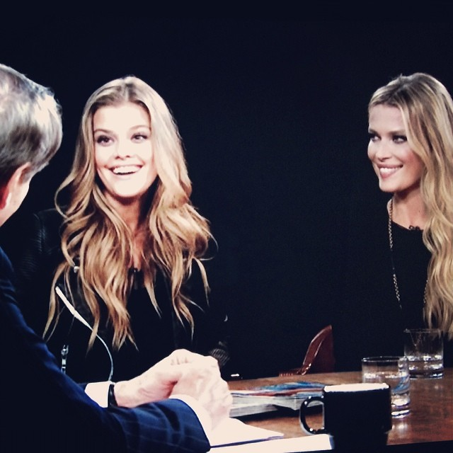 @czechstervv (veronica varekova): Thank you @charlieroseshow @si_swimsuit for hosting us on your show!!! #charlierose #TheBest