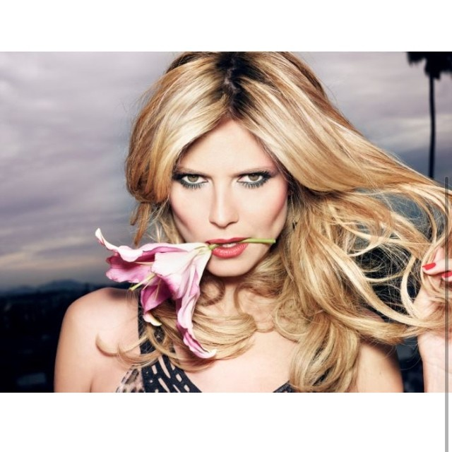 @heidiklum: Photo blast from the past: Pretty flower!