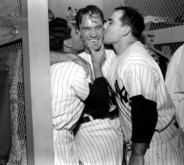 Phil Rizzuto, Yogi Berra and Hank Bauer :: AP