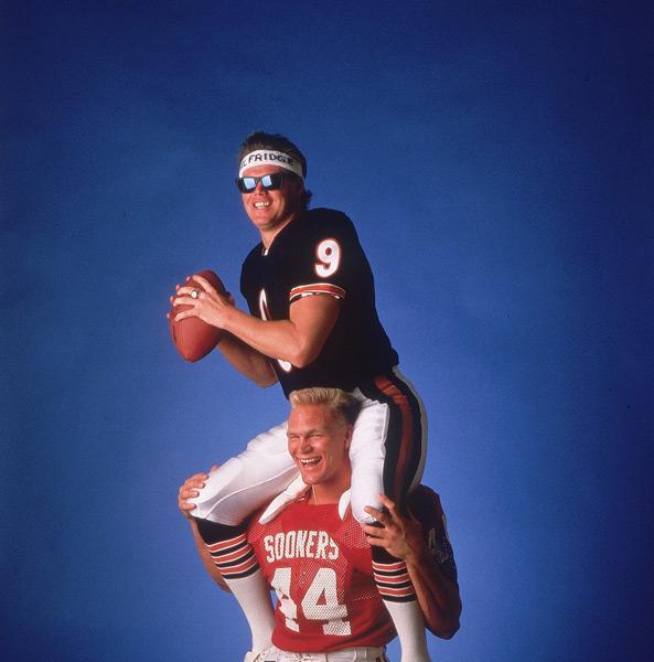 Brian Bosworth and Jim McMahon:: Heinz Kluetmeier/SI