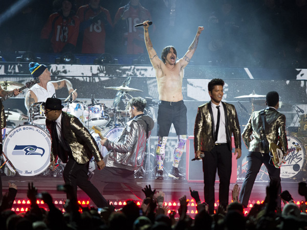 Bruno Mars and Red Hot Chili Peppers :: David Bergman/SI
