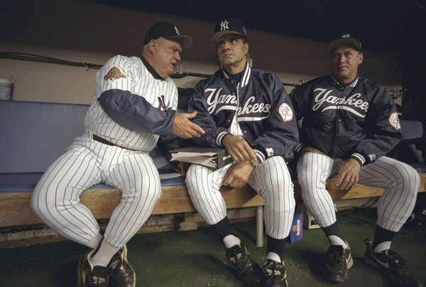 Don Zimmer, Joe Torre, and Mel Stottlemyre (1996) :: Lynn Johnson/SI