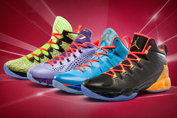 Jordan Brand has unveiled four sneakers for the 2014 All-Star Game. (Jordan)