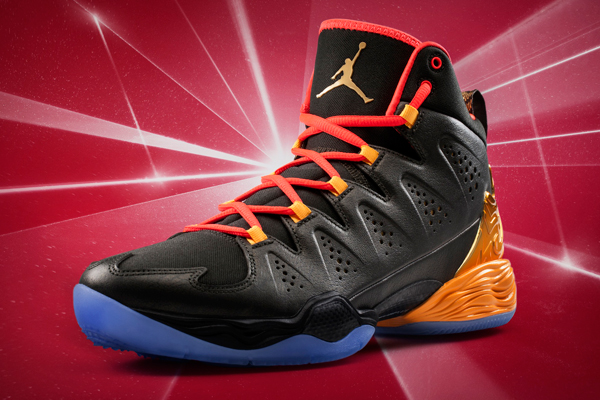"The 2014 All-Star Game version of Carmelo Anthony's ""Melo M10"" sneakers. (Jordan)"
