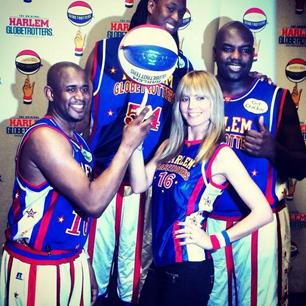 @HeidiKlum: Fun times with the Harlem Globetrotters