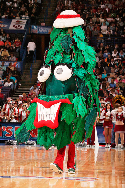 The Tree is all smiles at the 2009 Women's Final Four. (David E. Klutho/SI)