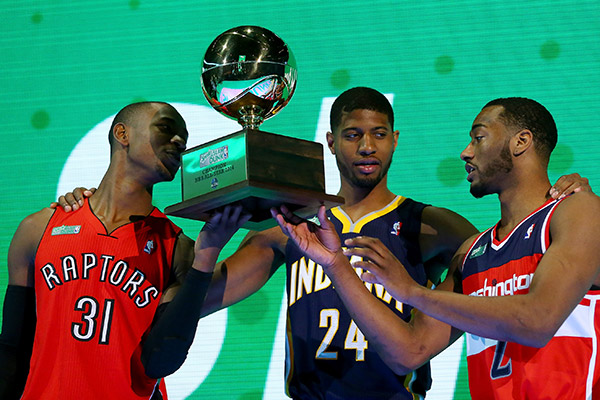 Terrence Ross, Paul George, John Wall (Ronald Martinez/Getty Images Sport)