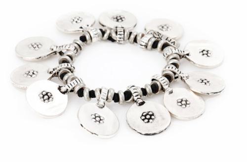 Bohéeme Bracelet in silver/black