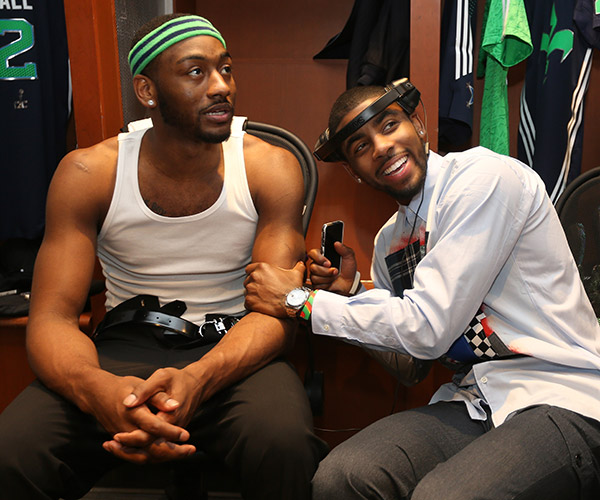 John Wall, Kyrie Irving (David Sherman/Getty Images)