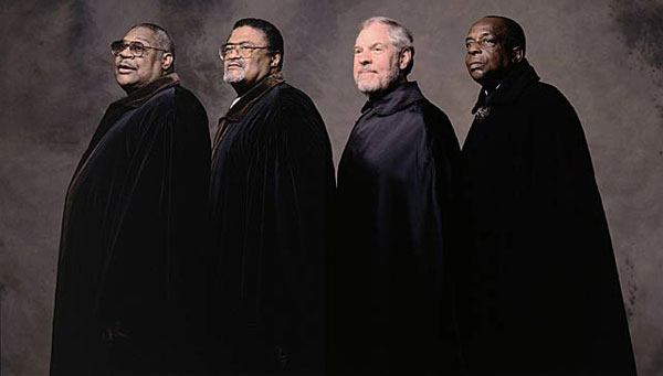 Lamar Lundy, Rosey Grier, Merlin Olsen, Deacon Jones :: Walter Iooss Jr./SI