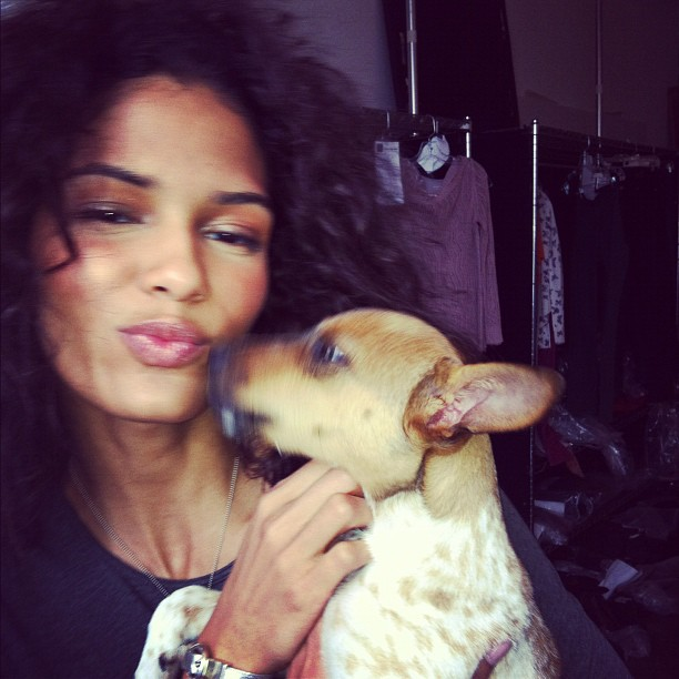 Rupert and I on Set today... Kiss Kiss